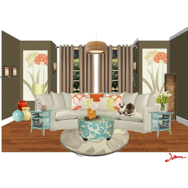 Teal Orange Home Decor Pinterest