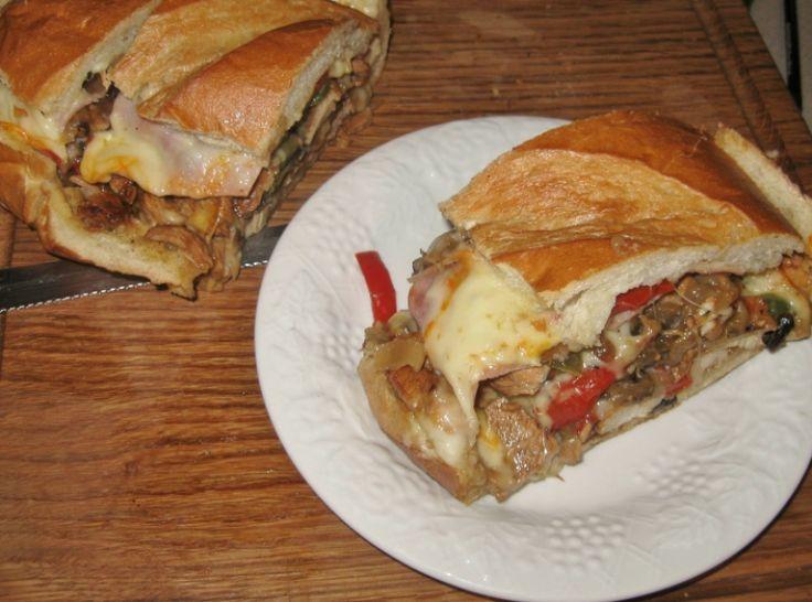 Chicken, Ham & Portabella Bread Bake | Recipe