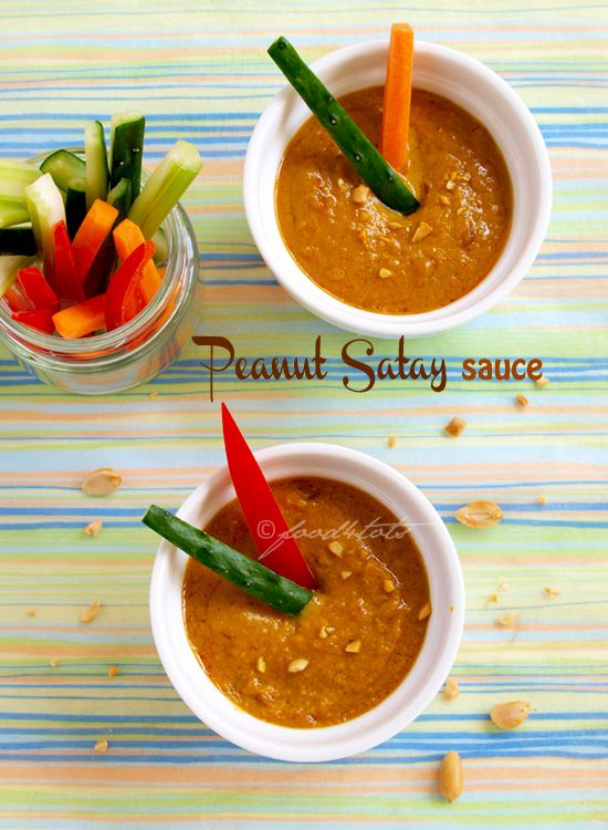 Peanut Satay Sauce - a good way to encourage children to eat crunchy ...