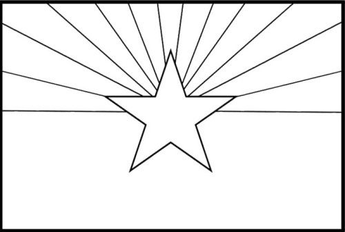 Printable coloring pages of the arizona state flag for Arizona state flag coloring page