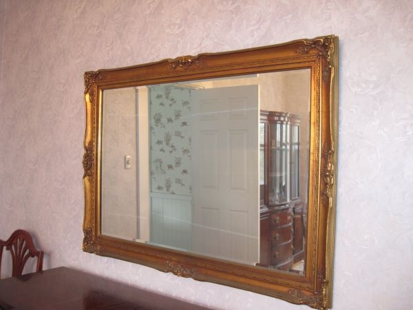 Large Gold Framed Mirror For Living Room Frames Pinterest