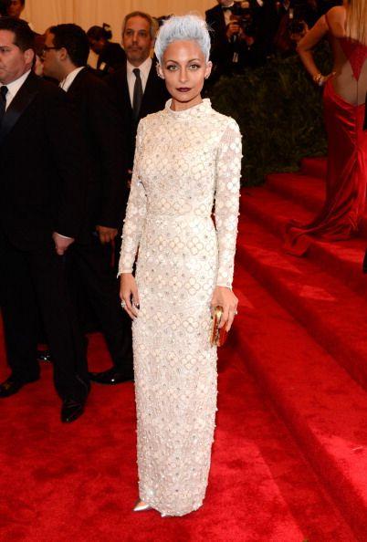 Nicole Richie in custom Topshop at the Met Gala 2013