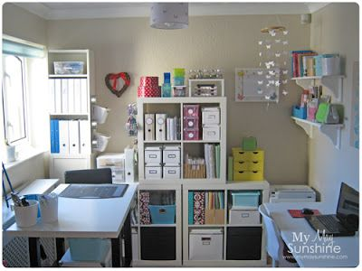 This craft room is divine! She's got everything so well organized! Love it!!