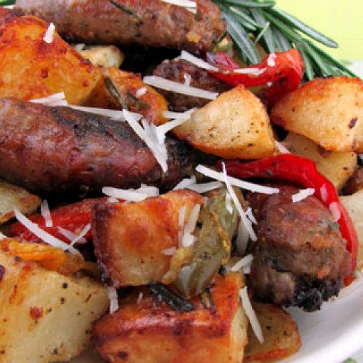 Roasted Sausage, Potatoes and Peppers. Makin this for dindin tonight!!