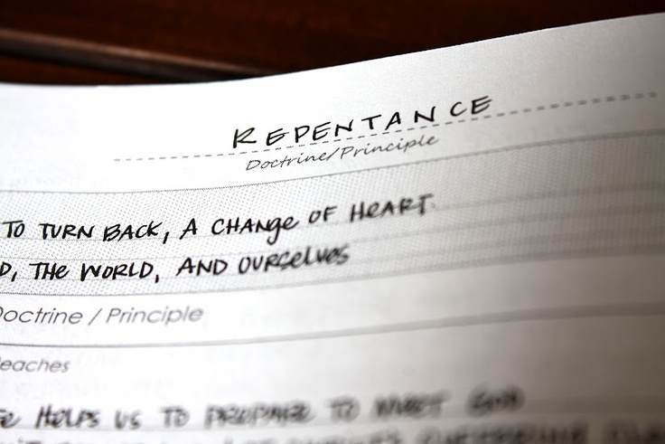 Studying repentance part 2 the redheaded hostess scripture journal