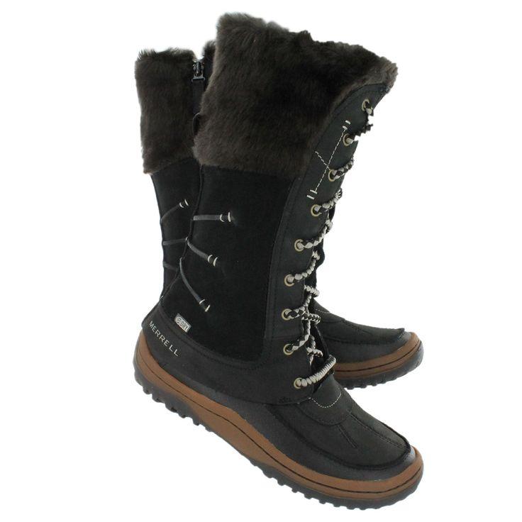 Women;s Cheyenne Black Waterproof Winter Boots | Homewood Mountain ...