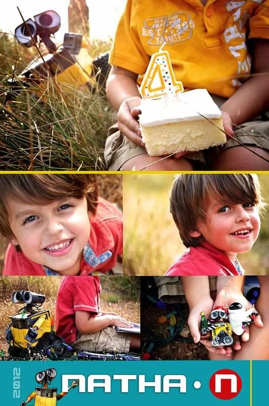 A Wall-E themed birthday: The Invitation  ©Amber S. Wallace Photography, North Carolina