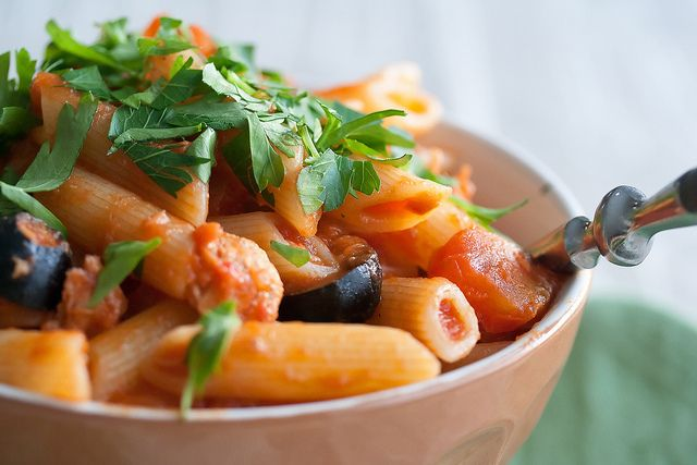 Fishy Business: Pasta with Spicy Tuna Sauce | Crumb: A Food Blog