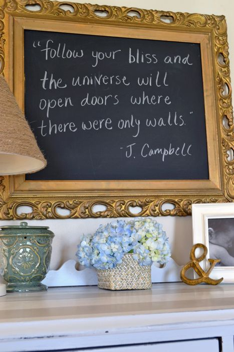 diy chalkboard in frame home decor