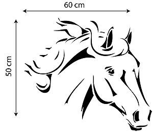 Horse head template horse head 1 pony stallion wall sticker decal