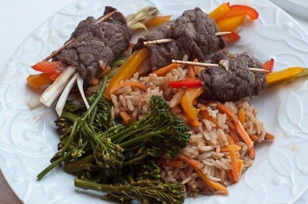 beef negimaki with broccolini and rice recipes dishmaps beef negimaki ...