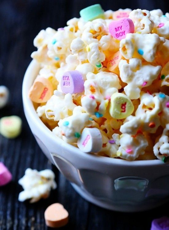 Valentines day treat and gifts chocolate covered popcorn