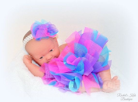 Baby Showers Bexley ~ Bright spring infant tutu photo prop baby shower gift idea