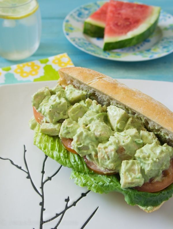 Avocado and Greek Yogurt Chicken Salad Sandwich | Recipe