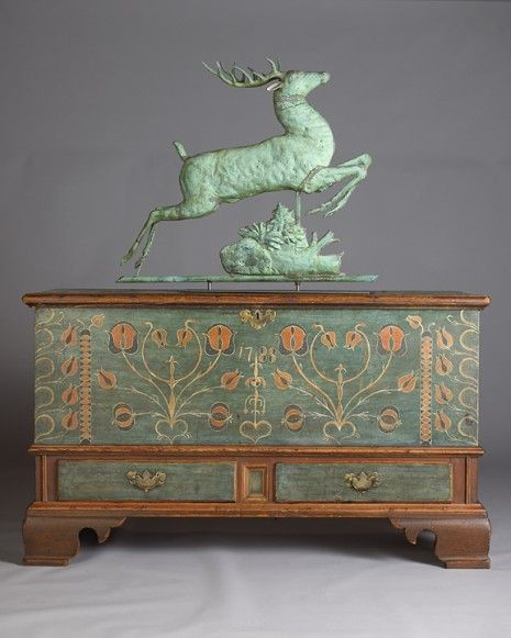 Leaping Stag Weathervane and blanket chest