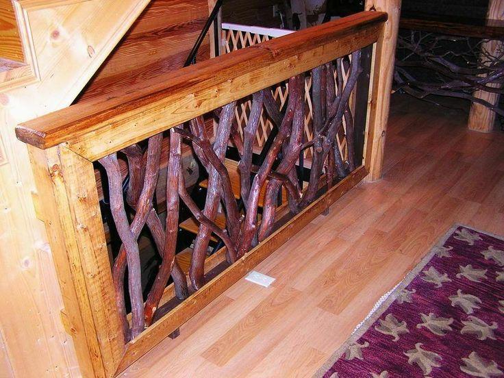Best Rustic Laurel Stair Porch Railings Interior Exterior Log 640 x 480