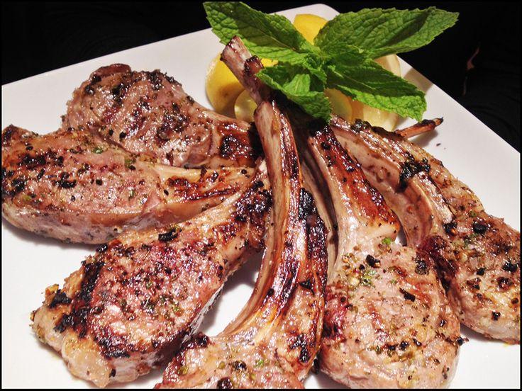 Lemony Greek Lamb Chops Finished