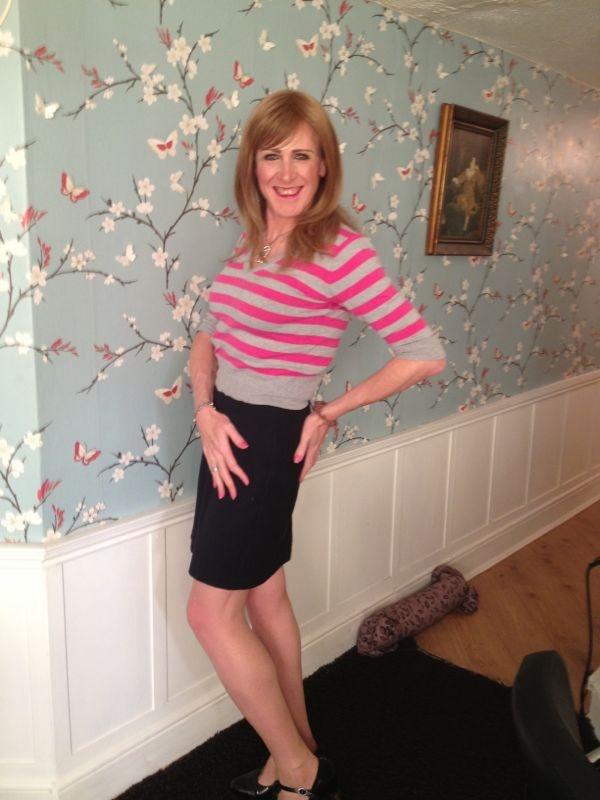 Garter belt and stockings tease