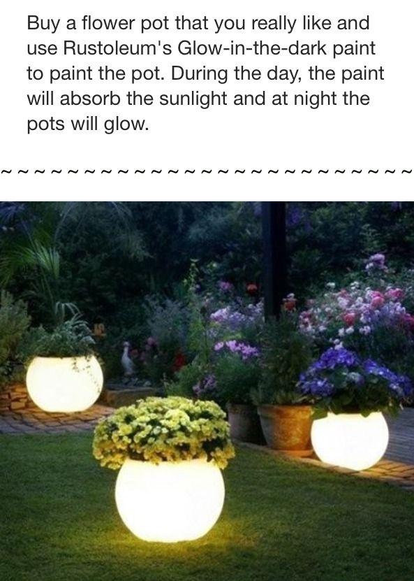 glow in the dark flower pots