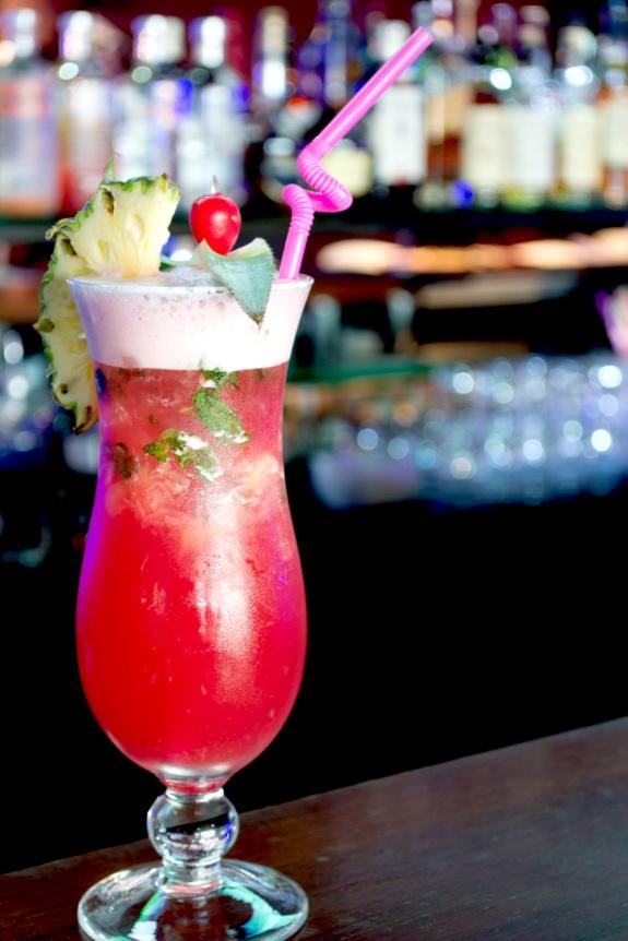 "Messi Pineapple"" Sober #Cocktail- Rich red #Pomegranate, slurpy ..."