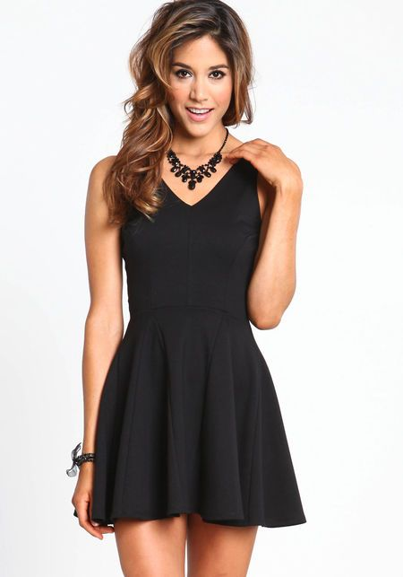 Simple Short Black Dresses - Missy Dress