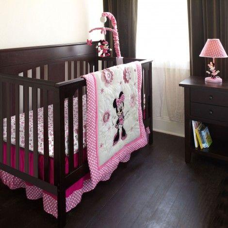 minnie mouse 6 pc crib bedding set las gemelas