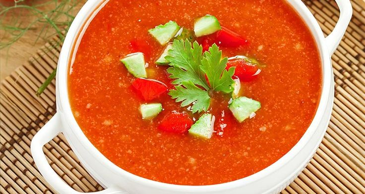 ... night with this recipe for Grilled Tomato Gazpacho With Avocado Salsa