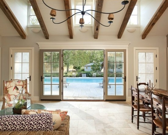 Large french doors leading to pool backyard pinterest for Large french windows