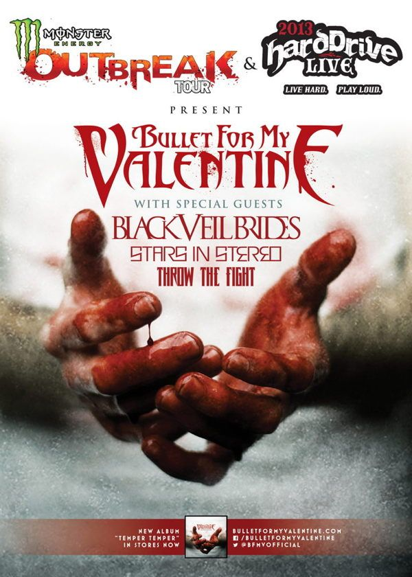 bullet for my valentine 2 novembre 2013