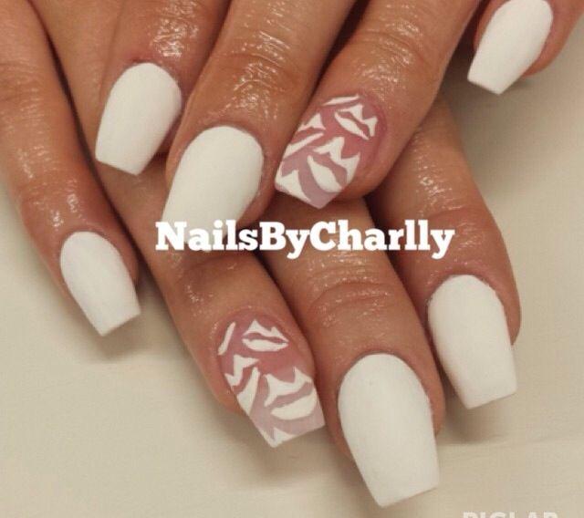 White matte nails | Nail Mania | Pinterest