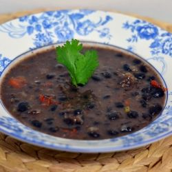 30 Minute Black Bean Soup by supperforasteal