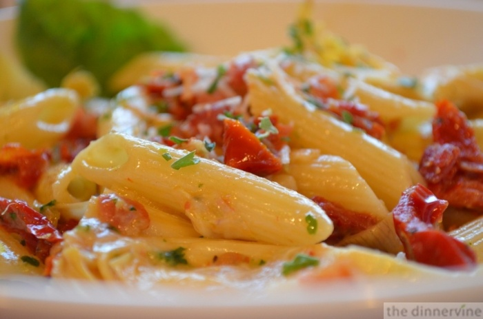 penne with pancetta & garlic