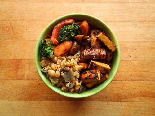 Broccoli Tofu Stir-Fry With Brown Rice Recipe — Dishmaps