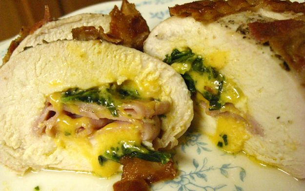 Bacon-wrapped Stuffed Chicken Breasts | Now We're Cooking | Pinterest