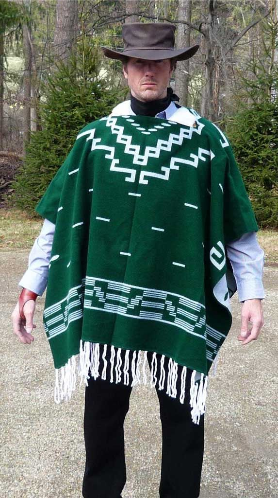 Spaghetti Western Clint Eastwood Style Poncho From Tribal ...