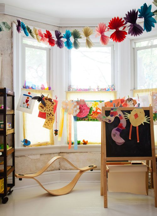 Another pic of Gus and Estella's playroom. Issue 14. photographed by Donna Griffith.