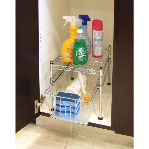 sliding under cabinet shelf wish list pinterest. Black Bedroom Furniture Sets. Home Design Ideas