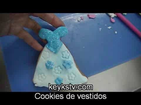 Como Hacer Galletas Con Forma De Vestidos Decoradas Con Fondant How To ...