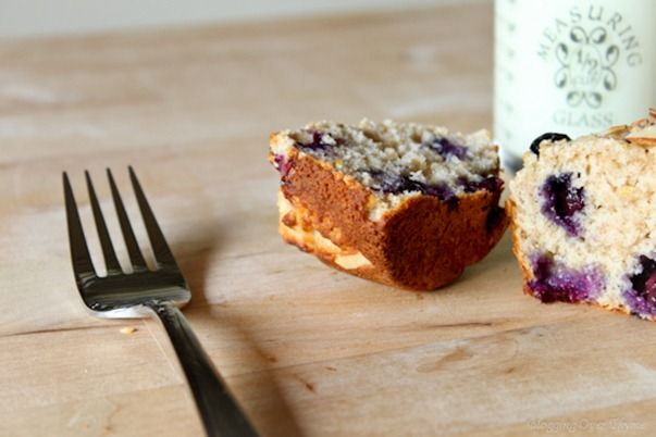 No-Guilt Blueberry Almond Muffins » Blogging Over Thyme