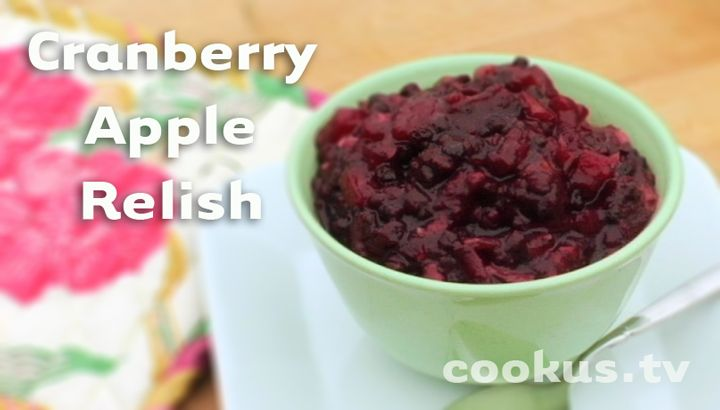More like this: cranberry apple , relish and cranberries .