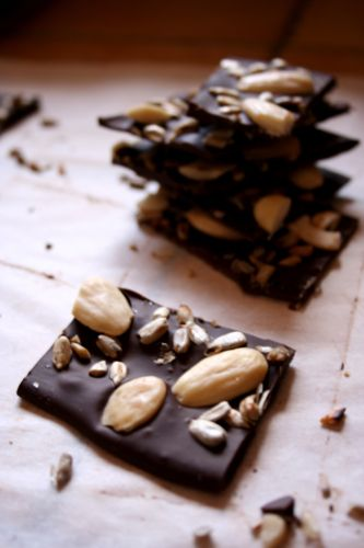 salty & seedy chocolate bark | the boot | sweets | Pinterest
