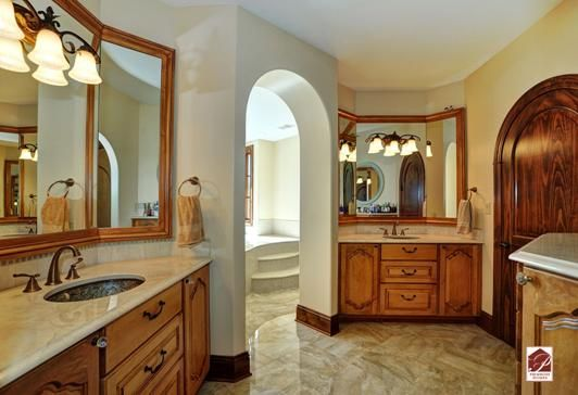 His and hers vanities in master bathroom our bathrooms for Master bathroom his and hers