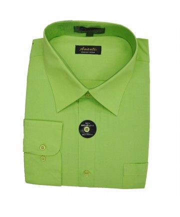 SPREAD COLLAR DRESS SHIRT-APPLE GREEN | Mens Dress Shirts | Pinterest