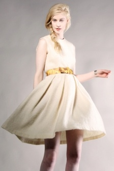 Cream swing dress thrifted amp modern dresses i want i want i wan