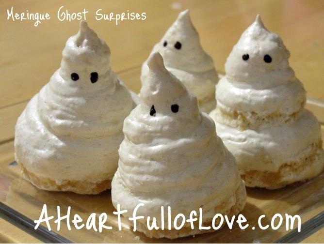 Meringue Ghost Suprises - Halloween Recipe for kids