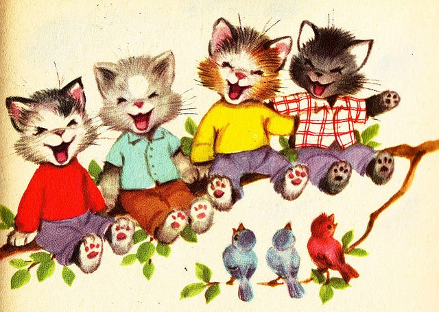 The Seven Wonderful Cats Illustration by tiny muffins, via Flickr