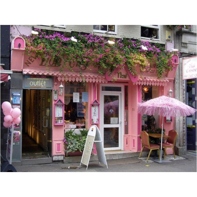 Pink store front retail store cafe pinterest for Shop front design ideas