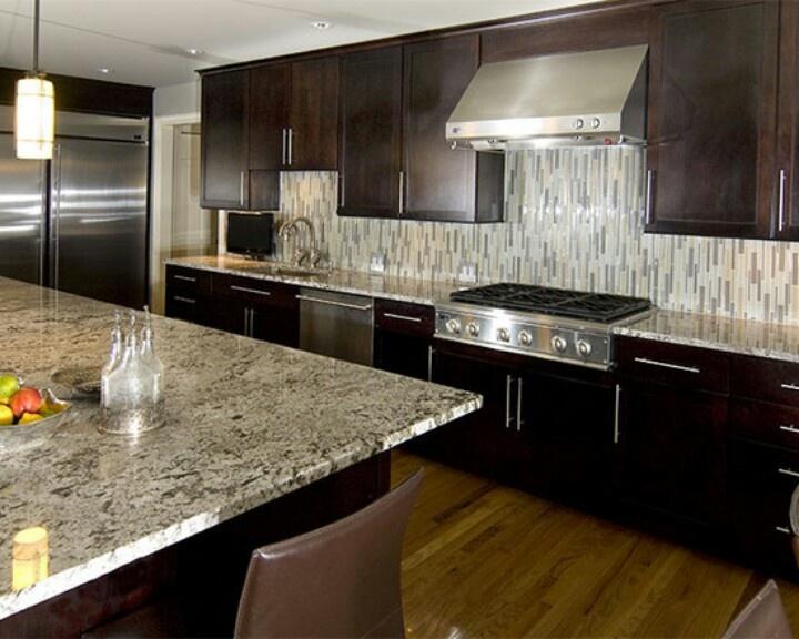 vertical glass backsplash home pinterest
