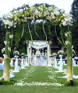 Wedding arch decorations, altar decorations wedding