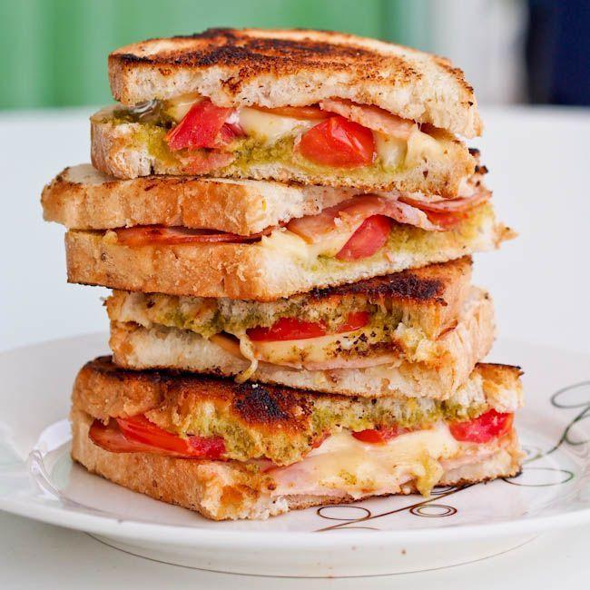 Turkey Pesto Panini | Food | Pinterest